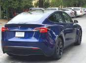 A street shot of the Tesla Model Y