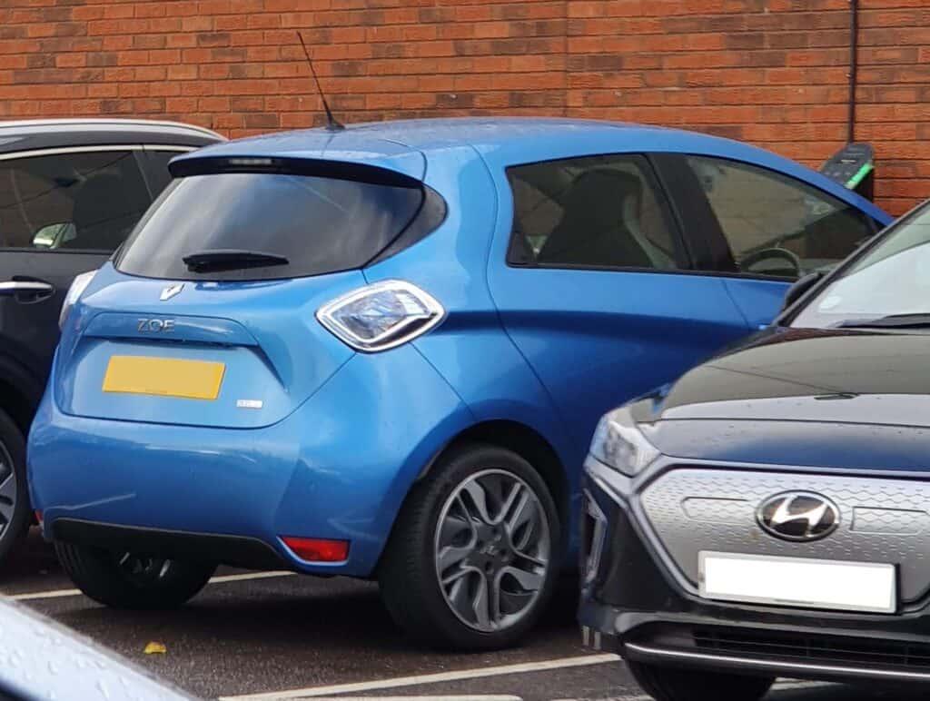 Renault Zoe pure EV back view