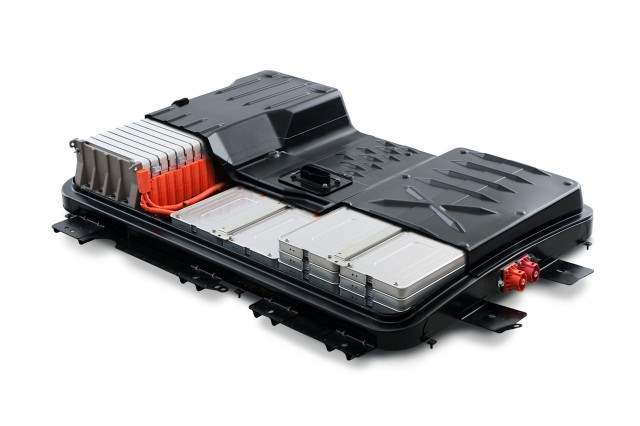 Battery pack mock-up from a Nissan Leaf