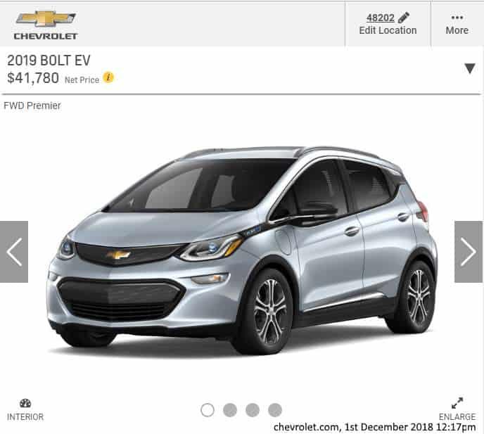 New Chevy Bolt EV Premium, from Chevrolet.com