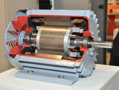 An AC induction motor, from wikipedia.org