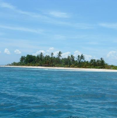 A remote island, looking out over the sea