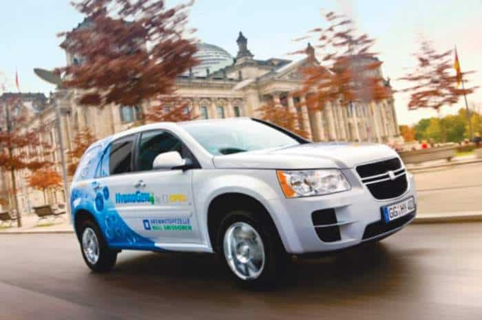 The GM HydroGen4 car, from ResearchGate.net