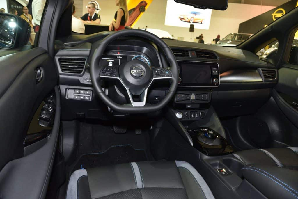 Nissan Leaf cabin and dash