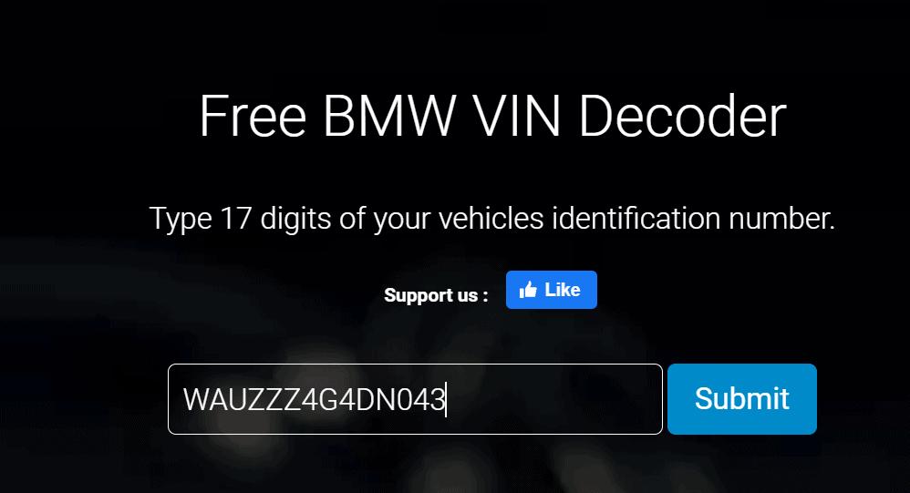 BMW i3 VIN decoder