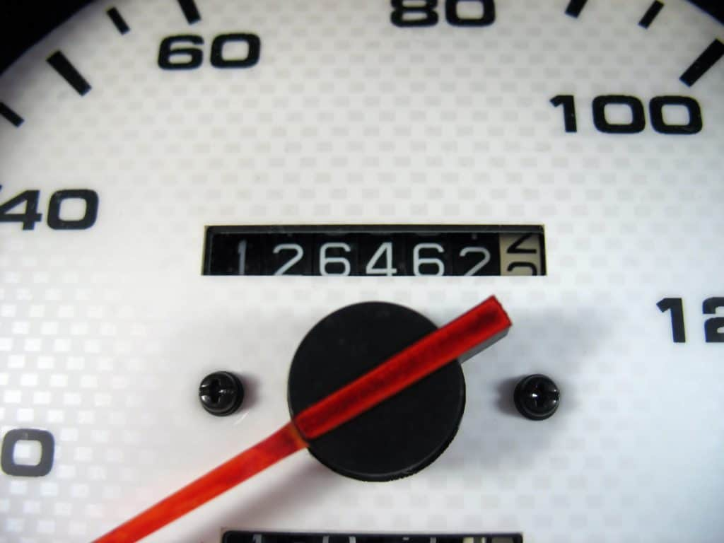 Car Odometer showing high mileage of 264463