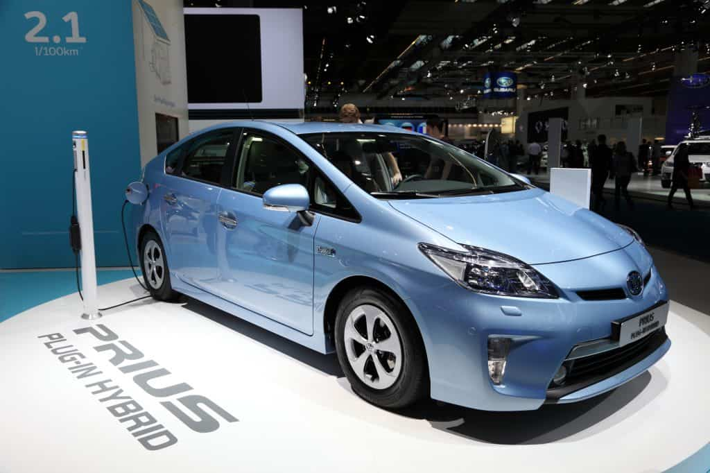 A Toyota Prius in a conference show