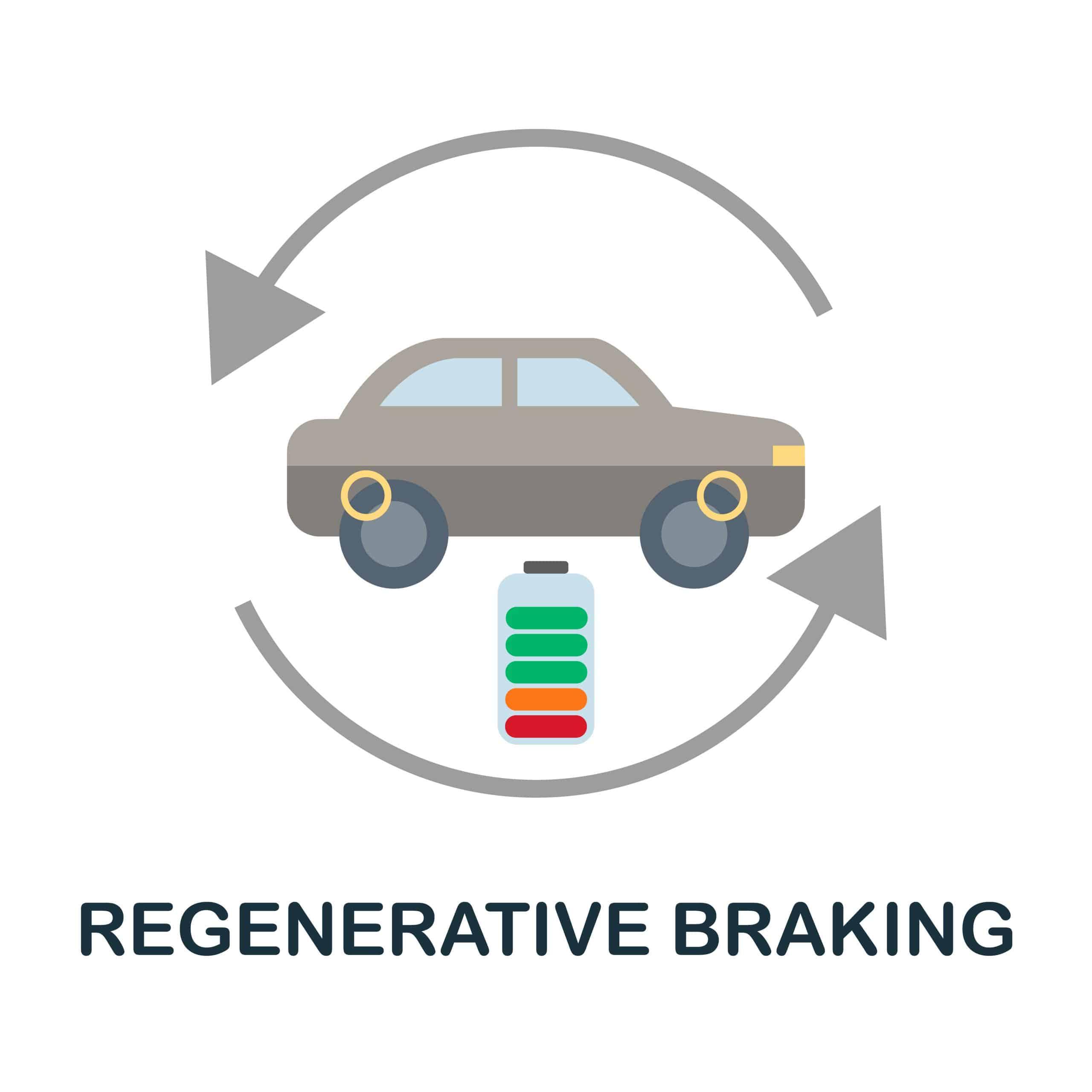 Regenerative braking icon diagram