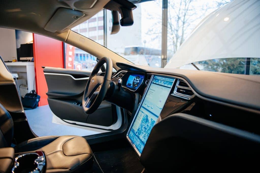 The Tesla touchscreen on the main touchscreen