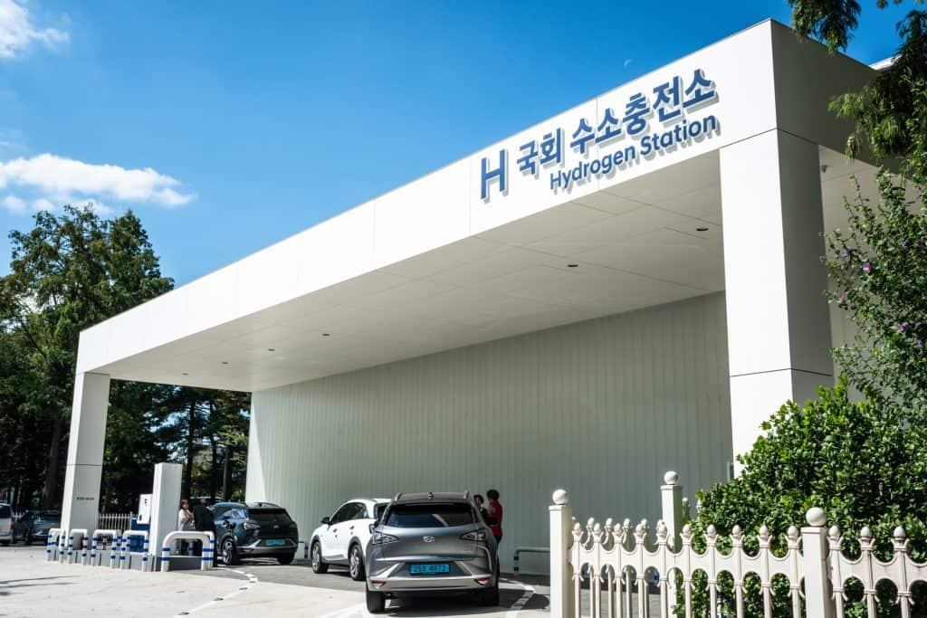 A hydrogen refuelling station in Seoul South Korea