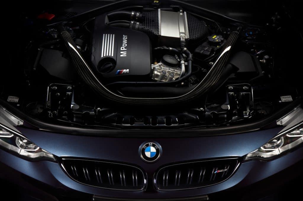 Engine of a BMW gasoline car